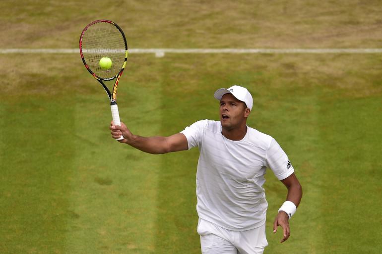 Jo-Wilfried Tsonga à Wimbledon en 2015