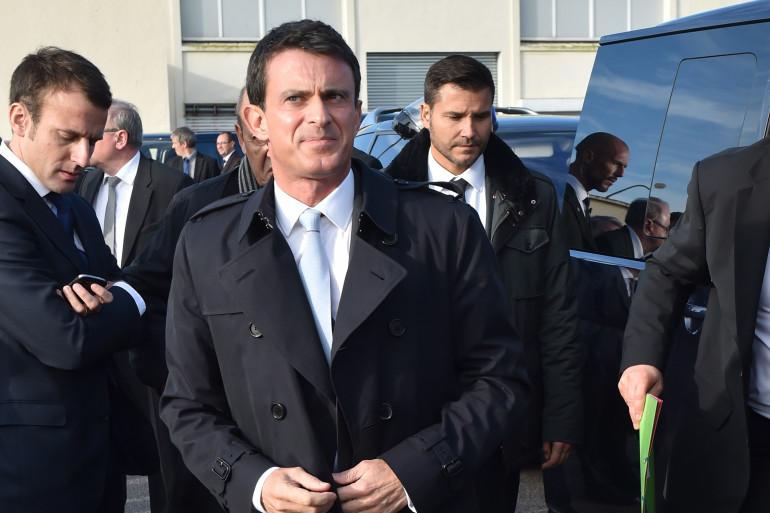 Manuel Valls le 22 octobre 2015 à Boulogne-sur-Mer (illustration)