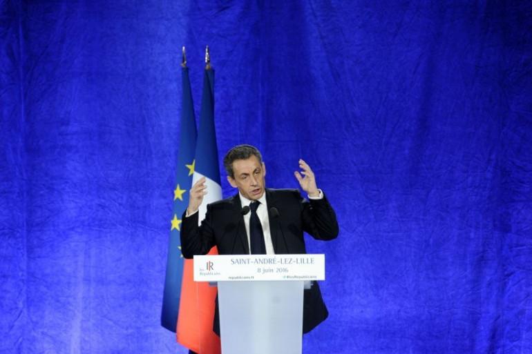 Nicolas Sarkozy en meeting à Saint-André-Lez-Lille, le 8 juin 2016 (illustration)