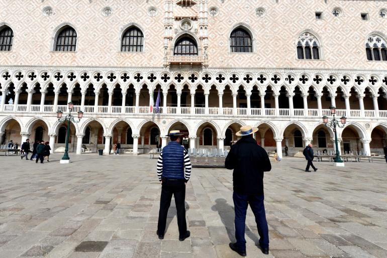 Le Palais de Doges, à Venise, le 5 mars 2020