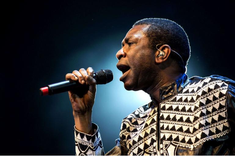 Youssou N'Dour au festival de Womad (Grande-Bretagne), le 26 juillet 2014.