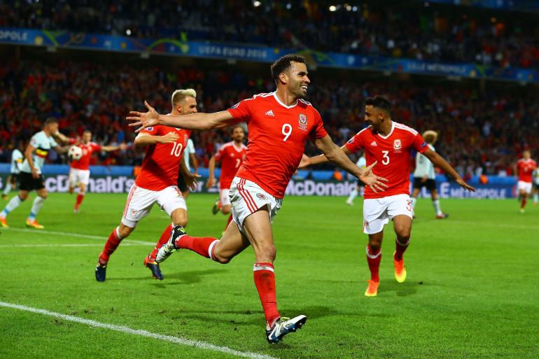Hal Robson-Kanu a marqué le deuxième but du Pays de Galles contre la Belgique, vendredi 1er juillet