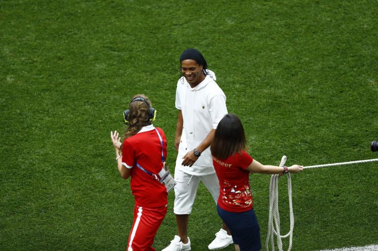 Le footballeur brésilien Ronaldinho, lors de la finale de la Coupe du Monde