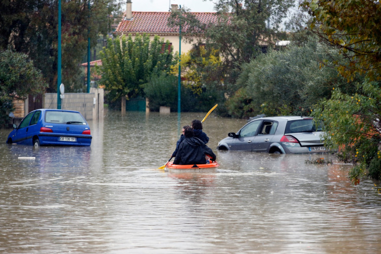 Des inondations dans le sud-est de la France le 24 novembre (illustration)