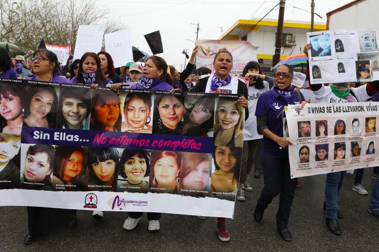 Des femmes mexicaines manifestant le 8 mars pour la journée des Droits des femmes