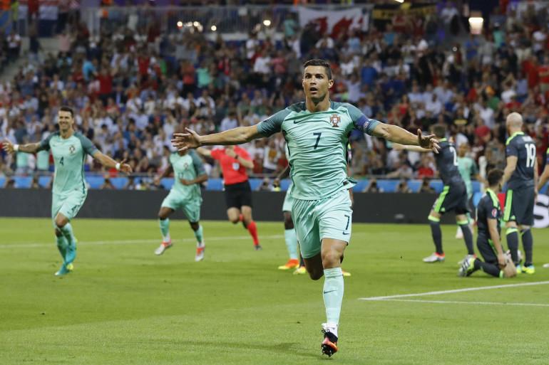 Cristiano Ronaldo a marqué contre le Pays de Galles en demi-finale, le 6 juillet 2016