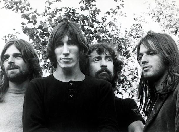 Rick Wright, Roger Waters, Nick mason et David Gilmour dans les années 70.