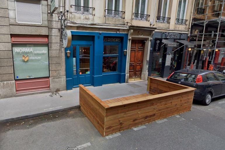 """Le restaurant """"Les Apothicaires"""", dans le 6e arrondissement de Lyon."""