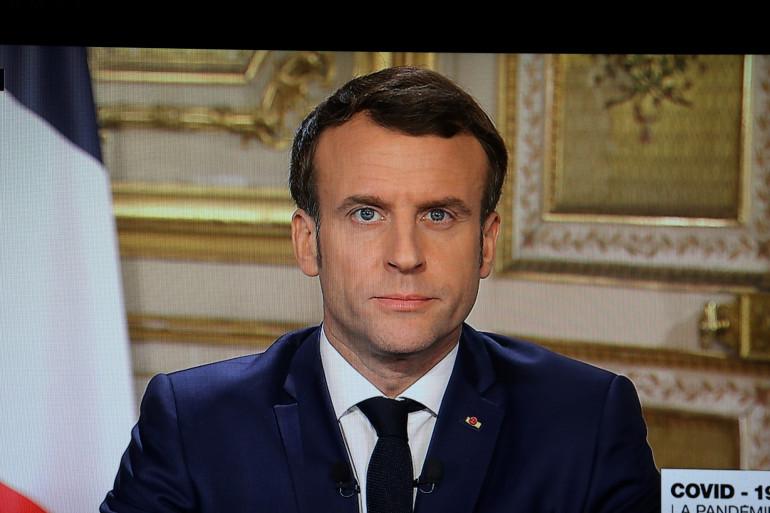 Emmanuel Macron lors de son allocution télévisée du 12 mars 2020.