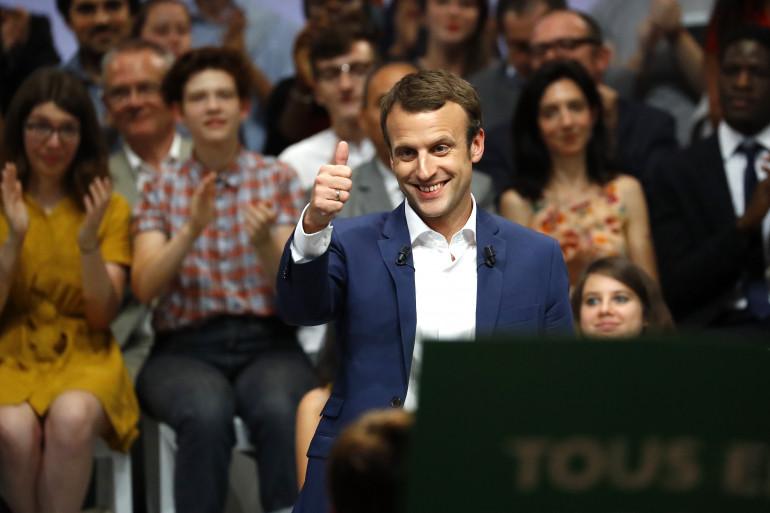 Emmanuel Macron à la Mutualité à Paris, le 12 juillet 2016