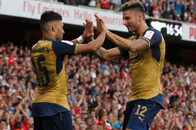 Olivier Giroud sous les couleurs d'Arsenal