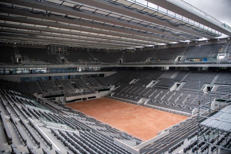 Le court central Philippe-Chatrier de Roland-Garros
