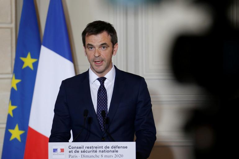 Le ministre de la Santé Olivier Véran, le 8 mars 2020.