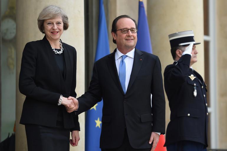 François Hollande a reçu Theresa May à l'Élysée le 21 juillet 2016