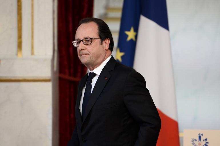 François Hollande à l'issue d'un conseil restreint de défense et de sécurité à l'Élysée, vendredi 22 juillet