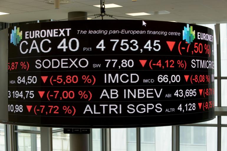 Bourse de Paris le 9 mars 2020