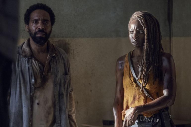"""Virgil et Michonne dans l'épisode 13 de """"The Walking Dead"""""""