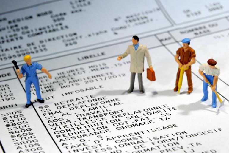 Un bulletin de salaire (illustration)
