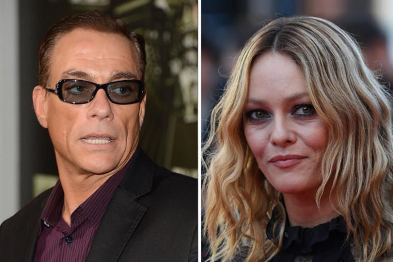 """Vanessa Paradis et Jean-Claude Van Damme dans le film """"Chien"""""""