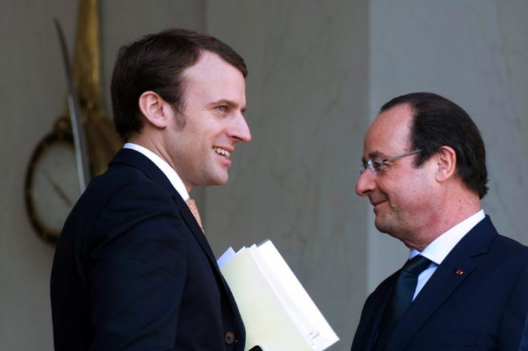 Emmanuel Macron et le Président Hollande, le 26 août 2014.