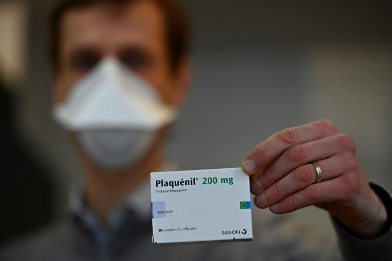 Une boite de Plaquenil, dérivé de la chloroquine