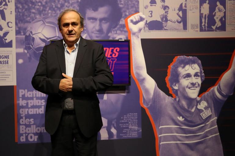 Michel Platini à Nice le 22 novembre 2019
