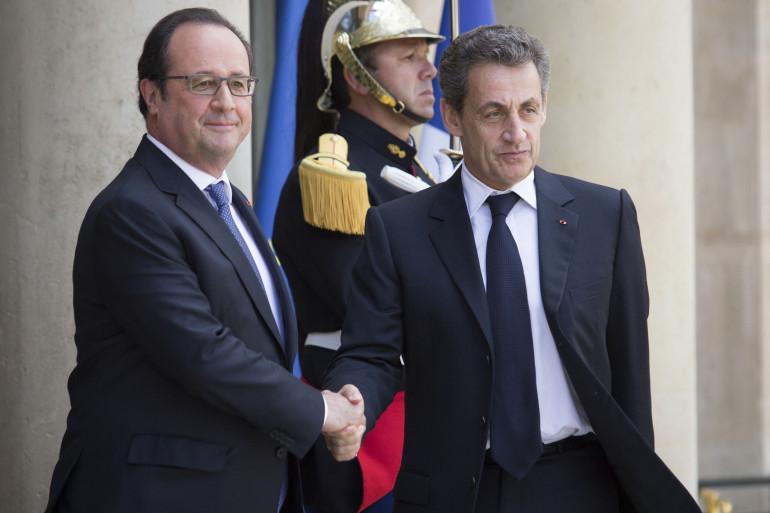 François Hollande a reçu Nicolas Sarkozy à l'Élysée, samedi 25 juin.