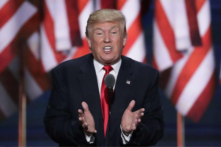 Donald Trump à la convention républicaine à Cleveland, le 22 juillet 2016 (illustration)