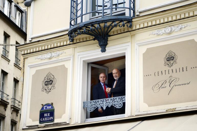 Le devant du restaurant Drouant à Paris, où est remis le prix Goncourt tous les ans