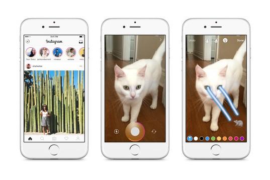 """La nouvelles fonctionnalité """"Stories"""" sur Instagram s'inspire de Snapchat"""