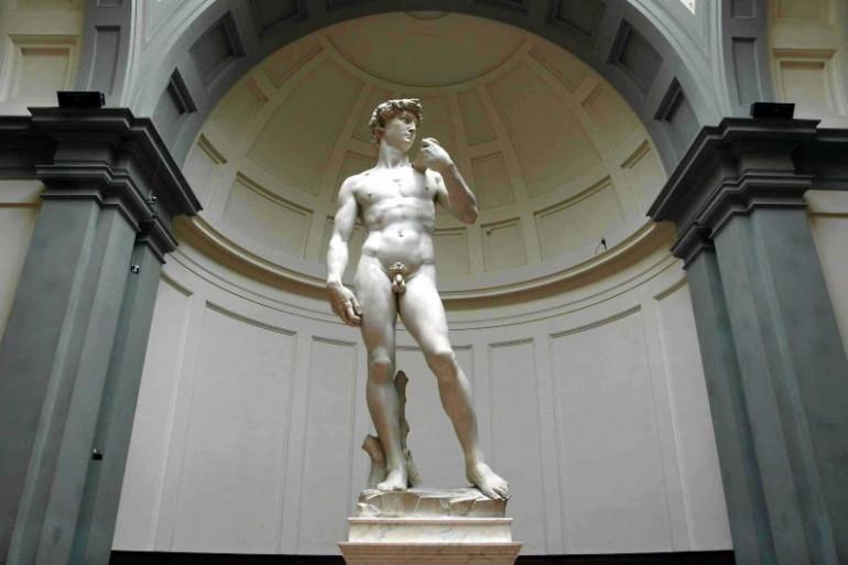 La statue originale de David, par Michel Ange, est exposée à Florence, en Italie