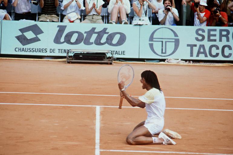 Yannick Noah remporte Roland-Garros le 5 juin 1983.