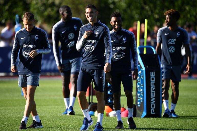 L'équipe de France à l'entraînement le 2 septembre à Clairefontaine