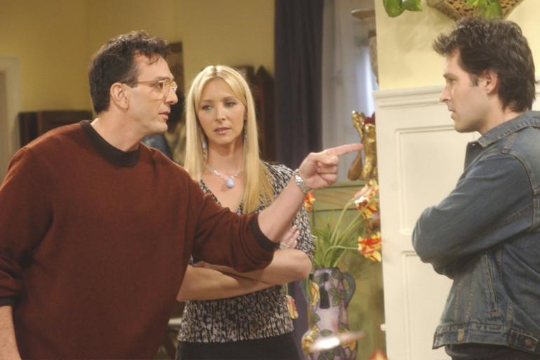 """David, Phoebe et Mike dans """"Friends"""""""