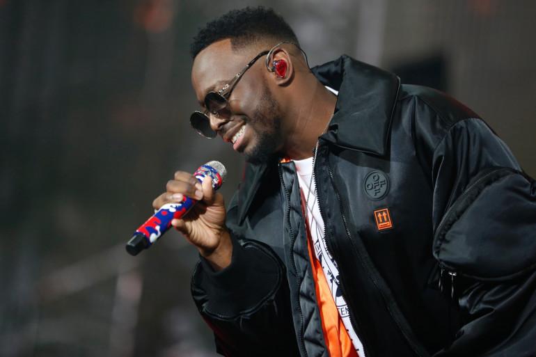 Dadju, sur la tournée de Gims, le 28 septembre 2019 au Stade de France.