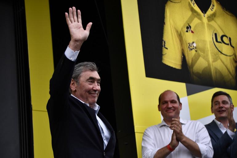 Eddy Merckx au Tour de France le 6 juillet 2019