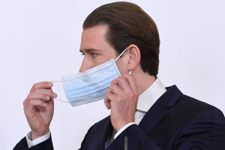 Sebastian Kurz le chancelier autrichien, annonce le déconfinement de l'Autriche