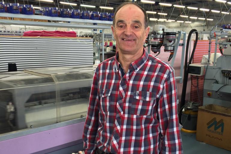 Maurice Leclerc, cadre à l'usine de tricots Saint-James