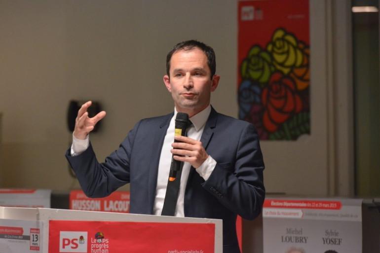 Benoit Hamon au siège du Parti socialiste, le 13 mars 2015