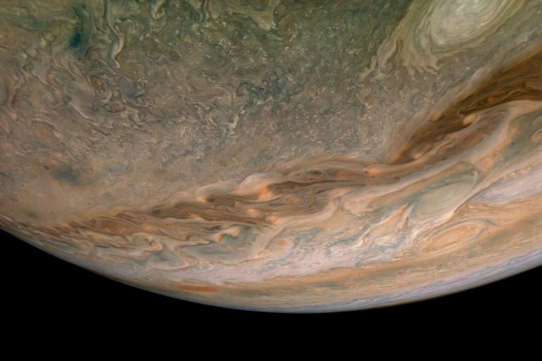 Un cliché de la planète Jupiter.