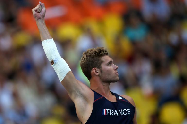 Le Français Kevin Mayer, ici en 2013, vise une médaille en decathlon