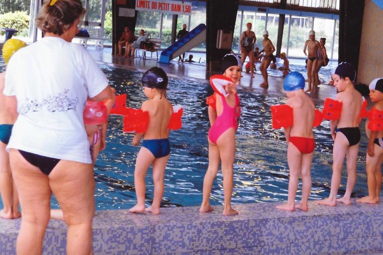 Ses premiers pas avec la natation
