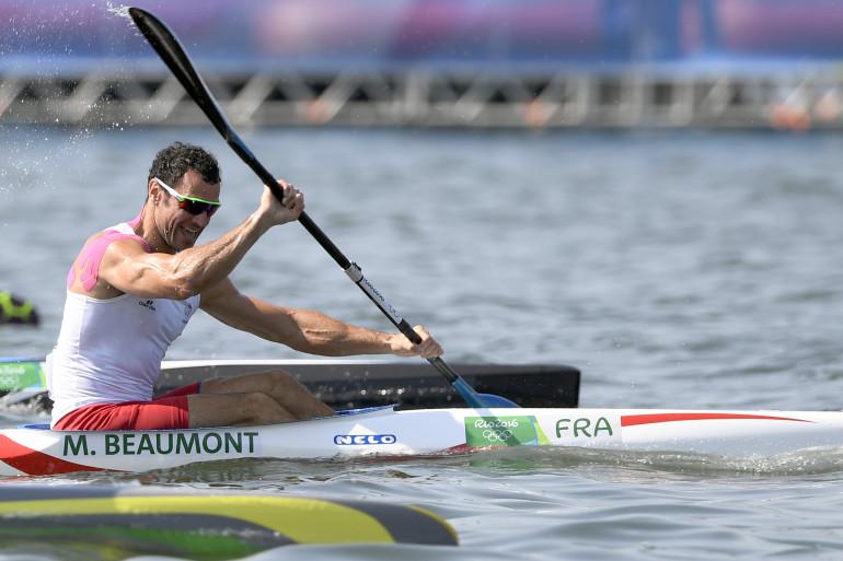 Maxime Beaumont, médaillé d'argent en canoë-kayak K1 200m, samedi 20 août 2016.