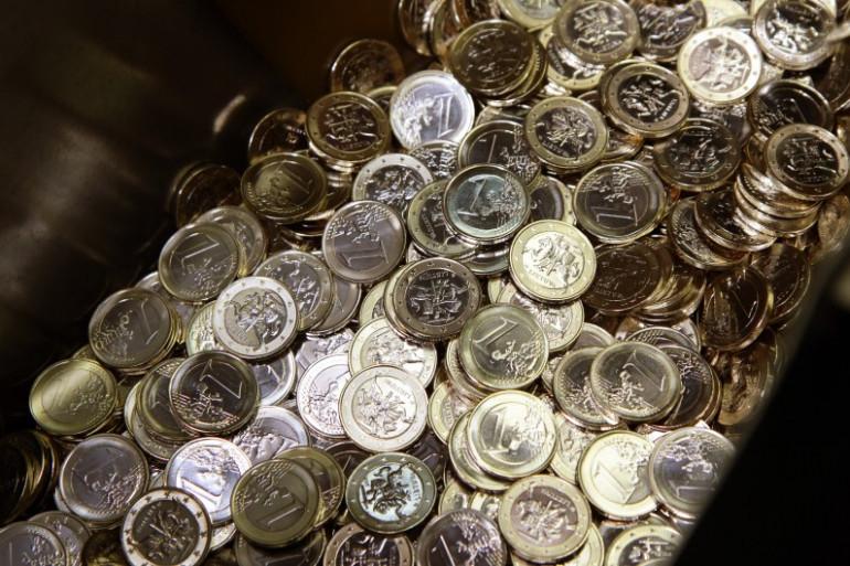 De pièces de un euro (illustration)