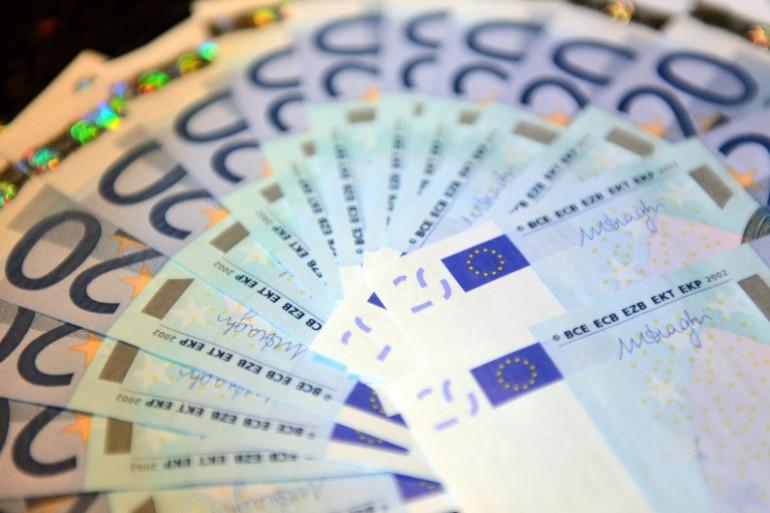 Des billets de 20 euros (image d'illustration)