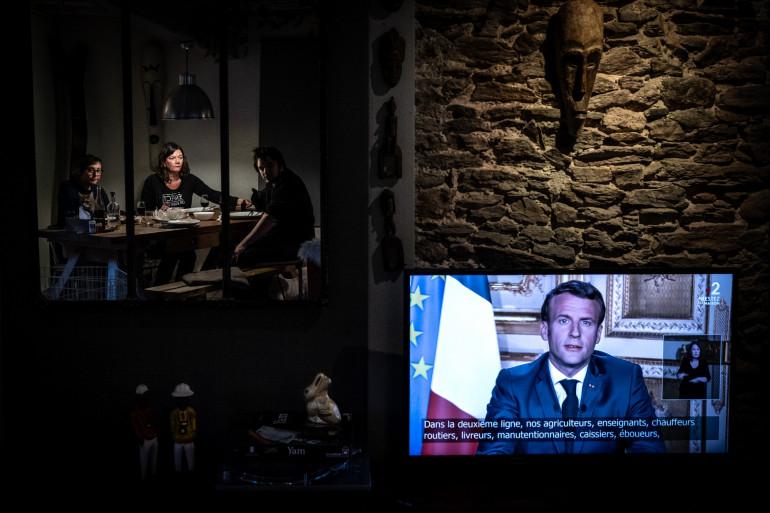 Emmanuel Macron, le 13 avril 2020