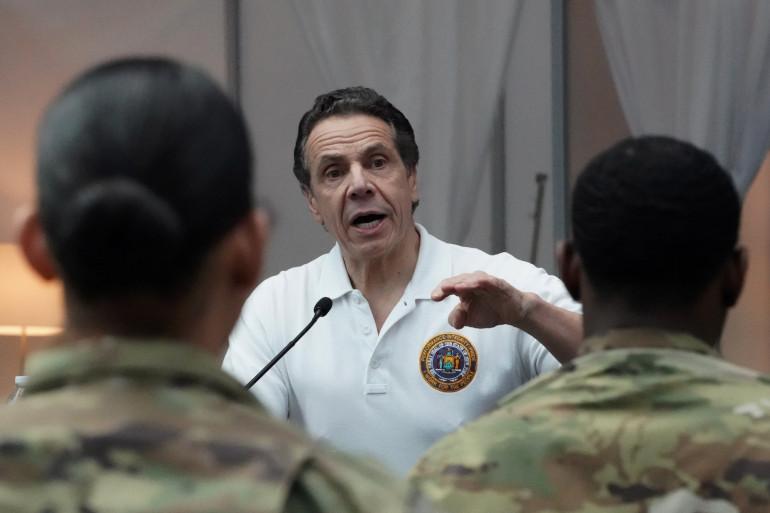 """Coronavirus aux États-Unis : Le cap des 10.000 morts, franchi dans l'État de New York. Selon son procureur Andrew Cuomo, """"le pire est passé""""."""