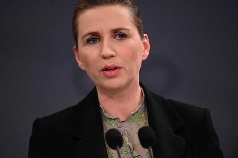 Mette Frederiksen, Première ministre du Danemak, lors d'une conférence de presse le 6 avril dernier.