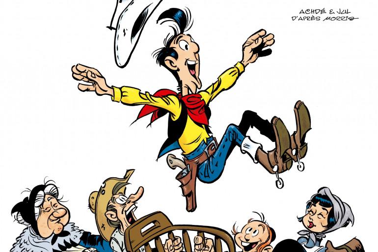 La couverture du tome 7 de Lucky Luke