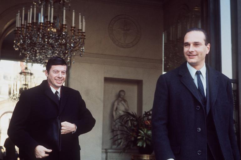 Robert Poujade et Jacques Chirac, le 13 janvier 1971